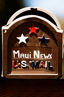 Close-up of a mailbox, Twin Falls, Maui, Hawaii Islands, USA