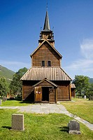 Wooden church in Kaupanger ( XII-XIIIth century). Norway