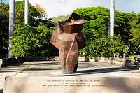 War memorial in a park, Honolulu, Oahu, Hawaii Islands, USA