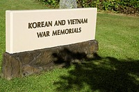 Close-up of text on a monument, Honolulu, Oahu, Hawaii Islands, USA