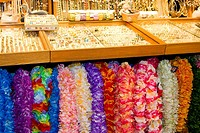 Jewelries and garlands in a store