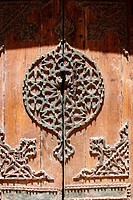 Islamic ornamented wooden door, Cairo Egypt