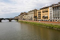 Buildings at the waterfront, Arno River, Florence, Italy (thumbnail)