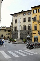 Column in front of a building, Piazza San Felice, Florence, Italy