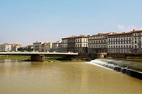 Bridge across a river, Arno River, Florence, Tuscany, Italy