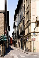 Buildings along a road, Florence, Tuscany, Italy