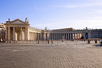 Facade of a building, Bernini's Colonnade, St  Peter's Square, Vatican, Rome, Italy