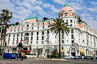 Hotel at a roadside, Hotel Negresco, Promenade des Anglais, Nice, France
