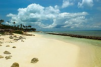 Panoramic view of a beach, San Andres, Providencia y Santa Catalina, San Andres y Providencia Department, Colombia