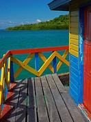 Gazebo in the sea, Lovebird's Bridge, Providencia, Providencia y Santa Catalina, San Andres y Providencia Department, Colombia