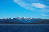 Lake in front of a mountain range, Lake Nahuel Huapi, San Carlos De Bariloche, Argentina