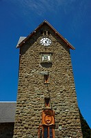 Low angle view of a clock tower, Civic Center, San Carlos De Bariloche, Argentina