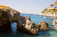 Rock formations in the sea, Capri, Campania, Italy