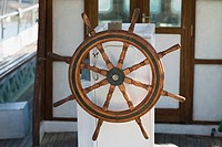 Helm of a boat, Patmos, Dodecanese Islands, Greece