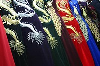 Close-up of embroided clothes, Vientiane Laos