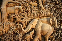Close-up of statues of animals, Chiang Rai, Thailand