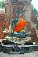 Statue of Buddha in a temple, Sukhothai, Thailand
