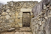 Old ruins of a building, Machu Picchu, Cusco Region, Peru