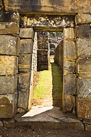 Entrance of a building, Choquequirao, Inca, Cusco Region, Peru
