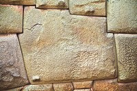 Close-up of a stone wall, Cuzco, Peru