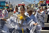 Group of people dancing in a parade, Arequipa, Peru
