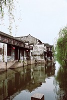 Ancient common people residence of Xitang region of rivers and lakes pond, Xitang Town, Jiashan County, Jiaxing City, Zhejiang Province of People's Re...