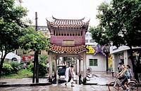 Nanying entrance, Jintai Road, Fuzhou City, Fujian Province of People's Republic of China, FOR EDITORIAL USE ONLY