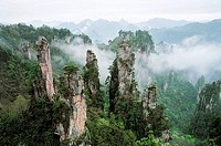 Emperor mountain scenery of Zhangjiajie, Zhangjiajie City, Hunan Province of People´s Republic of China