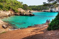 Cala Mitjana, Minorca. Balearic Islands, Spain