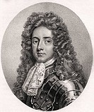 Henry Booth  1st Earl of Warrington  Lord Delamer 1651-1694   English politician  From the book A catalogue of Royal and Noble Authors Volume III publ...