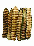 Grilled zuccini on white background