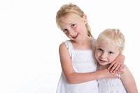 Portrait of two blond girls