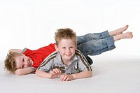 Two boys on the floor