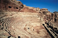 Nabatean theatre, Petra. Jordan
