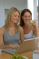 Two women at laptop