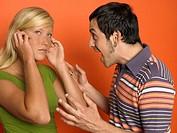 Man screaming at woman