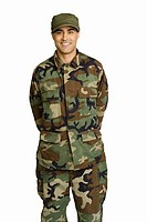 Male soldier wearing camouflage