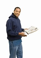 Man holding newspaper (thumbnail)