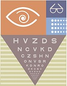 A picture of a Snellen chart used for eye examination