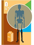 Osteoporosis can be prevented by milk and calcium consumption