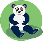 Illustration of a panda bear