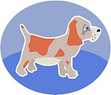 Illustration of a little puppy