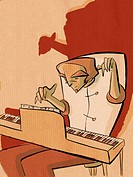 A man playing the piano (thumbnail)