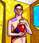 Man holding his heart (thumbnail)