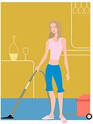 Woman vacuuming (thumbnail)