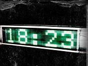 A countdown screen with the time shown in green