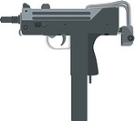 An illustration of mac-11 machine pistol designed by Gordon Ingram (thumbnail)