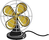 An illustration of an electric fan