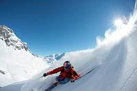 telemark, skiing