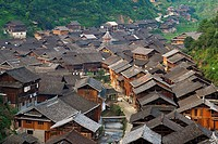 China. Guizhou province. Dong village of Zhaoxing